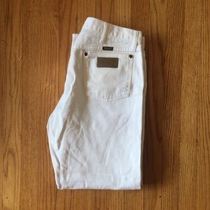 White wrangler pants 34x30